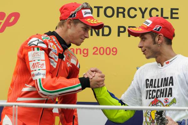 Casey Stoner, Valentino Rossi