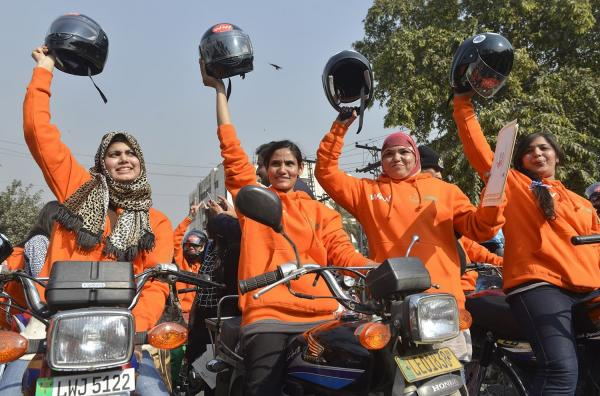 700 women given free bikes during Women on Wheels Rally