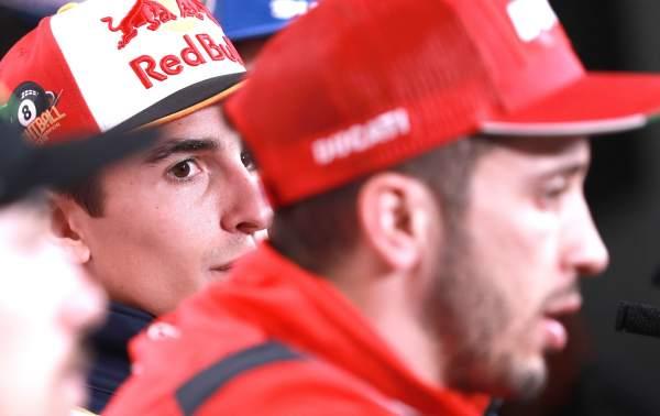 Marc Marquez, Andrea Dovizioso - Honda, Ducati