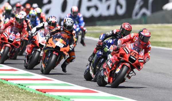 start of the Italian MotoGP at Mugello