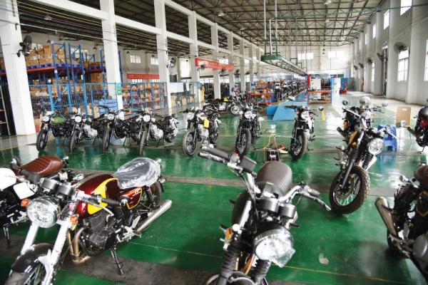 Chinese motorcycle factory