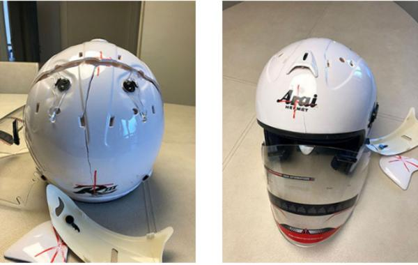 Fake Arai Motorcycle helmet 02.jpg