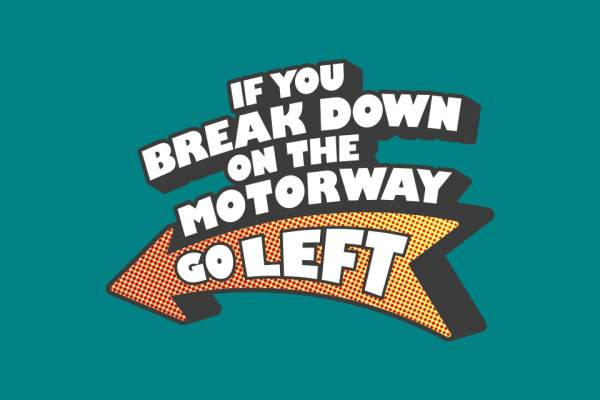 Go Left motorway safety campaign