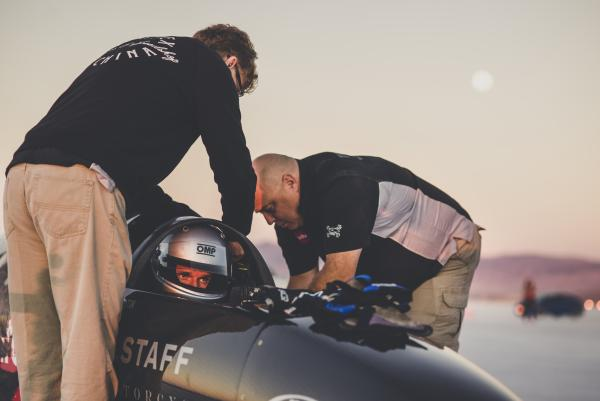 Guy Martin crashes during land speed record bid