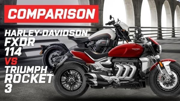 Harley-Davidson FXDR vs Triumph Rocket 3