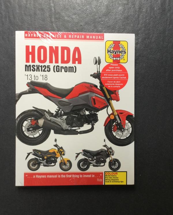 Haynes manual for Grom 125