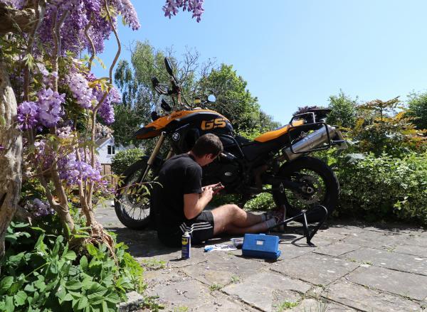 Watch: BMW GS Challenge bike preparation