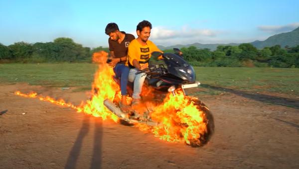 Ghost Rider imitation video