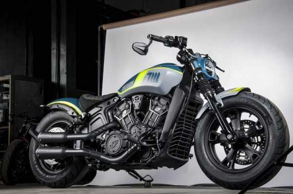 Indian Motorcycle NEON Tank Machine custom bike