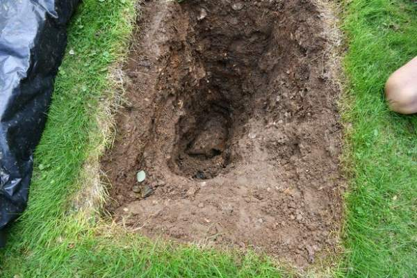 Motorcycle Buried in hole in Surrey