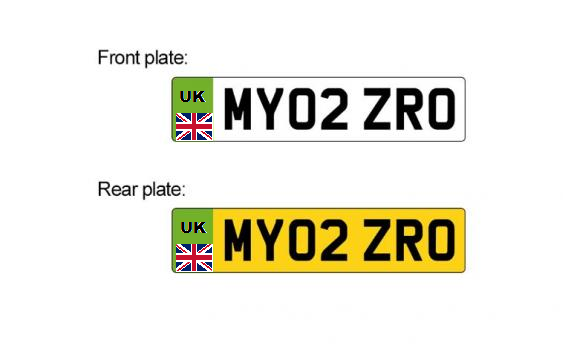 New number plate mockup