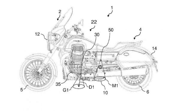 A courtesy light patent on a motorcycle