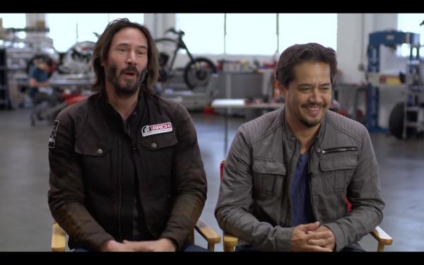 Inside Keanu Reeves motorcycle workshop