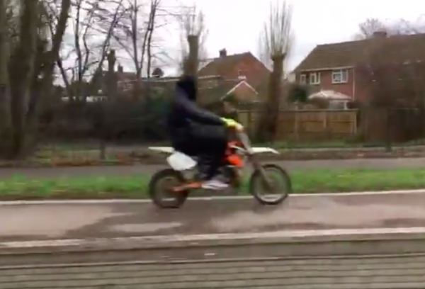 Jeremy Vine blasts hooded motorcyclist for riding on London cycle lane