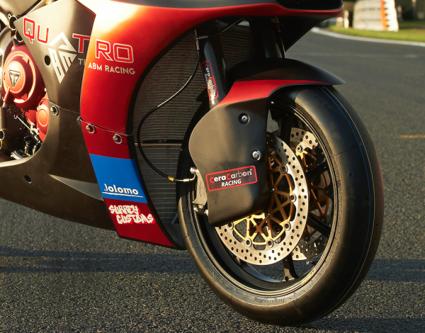 ABM Gp2 triumph 765 racebike
