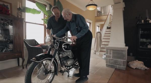 Zandbelt reunited with classic motorcycle