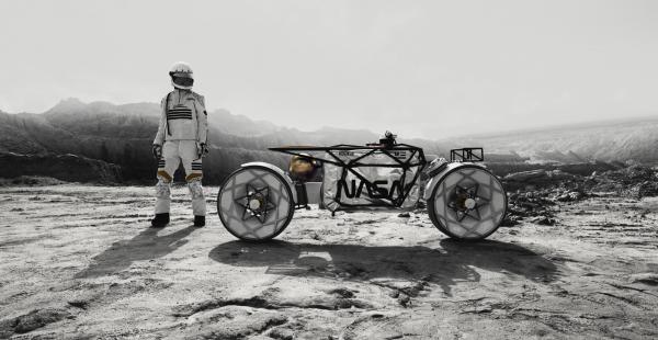 Hookie Tardigrade NASA inspired space motorcycle