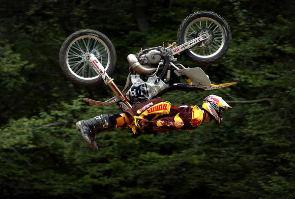 Where can I watch the Travis Pastrana Evel Knievel jumps?