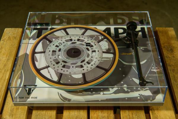 Now you can get a Triumph café racer record player