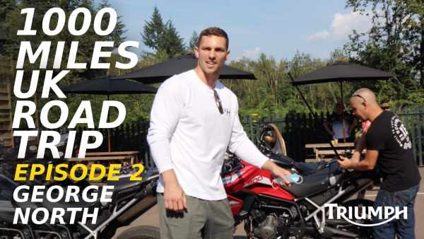 Triumph Tiger 900 tour Episode 2 with George North at Baffle Haus