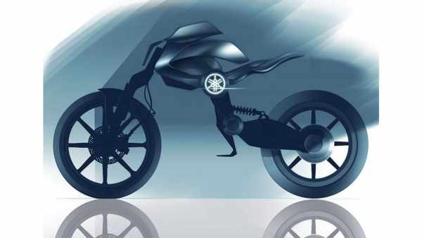 Concept Yamaha Double Y electric motorcycle