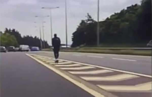 E-scooter rider tries to join M606 motorway