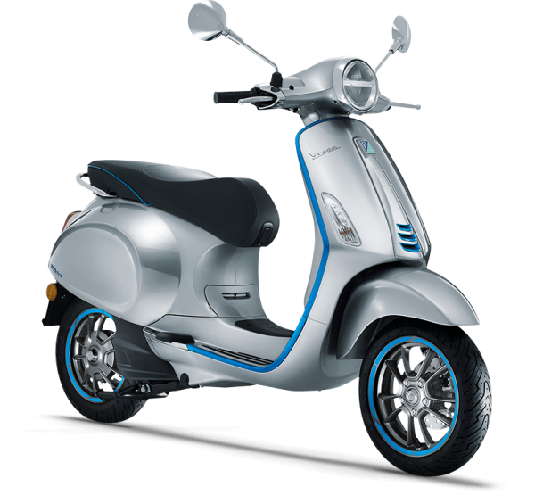 Vespa Elettrica mixes retro styling and high technology