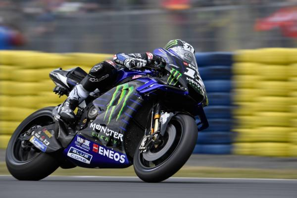 Vinales fastest in wet as conditions confine Rossi to Q1