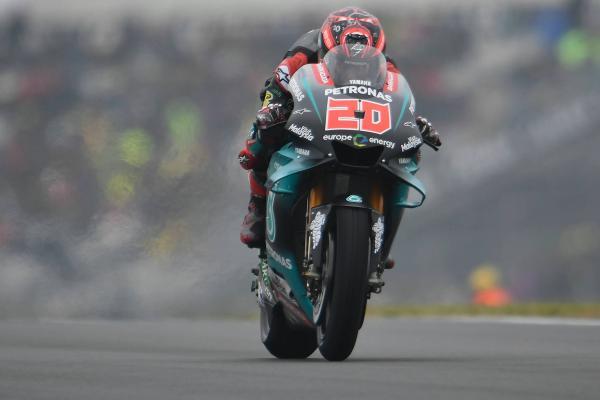 Quartararo leads Marquez in warm-up
