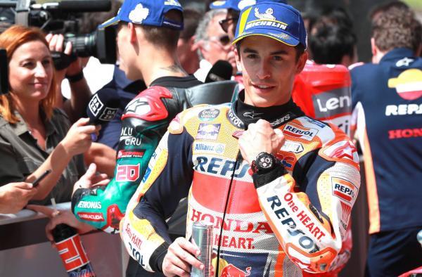 Marquez drags pole out of the bag to deny Quartararo