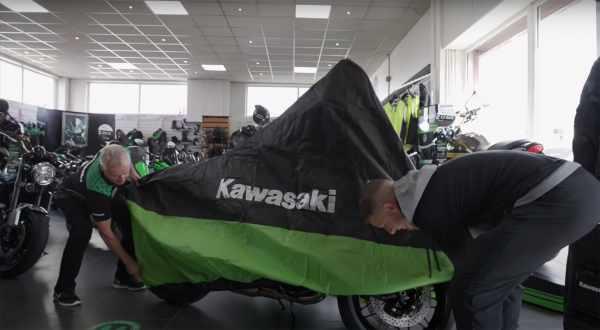 Jonathan Rea gets his first motorcycle Kawasaki