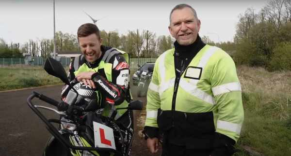 Jonathan Rea learning to ride a motorcycle