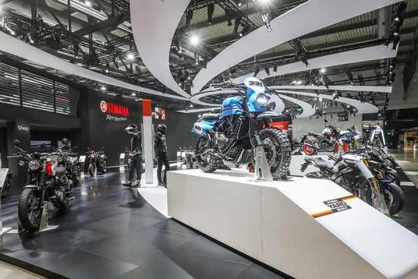 Yamaha at the 2019 EICMA show
