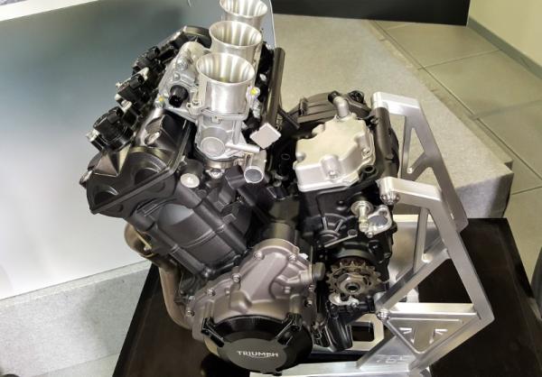 Triumph 765cc Moto2 engine