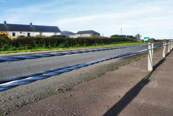 wire rope barrier is not quite road safety - banned in Northern Ireland