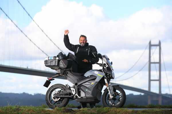 Zero S Electric motorcycle circumnavigation of United Kingdom