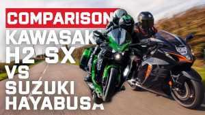 Kawasaki H2 SX vs Suzuki GSX-R 1300 Hayabusa