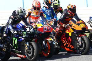 MotoGP practice start (1200)