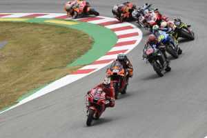 Start of the 20221 Catalunya MotoGP