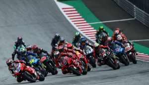 Start of the 2021 Styrian MotoGP