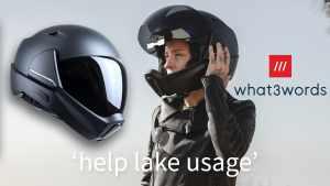 CrossHelmet X1 W3W smart helmet what3words