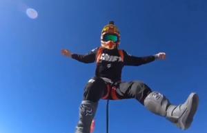 Dirt bike parachute