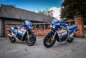 A pair of original GSX-R750s...
