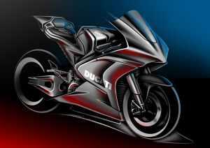 Ducati MotoE sketch