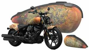 Indian Chief custom Shige tattoo design motorcycle