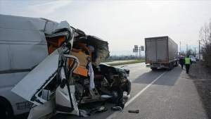 Aftermath of collision involving Can Oncu and Deniz Oncu